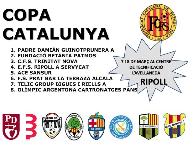 El sènior A a la Copa Catalunya