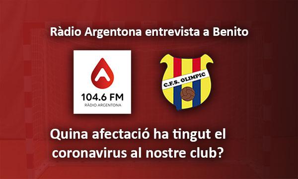 Ràdio Argentona entrevista a Benito