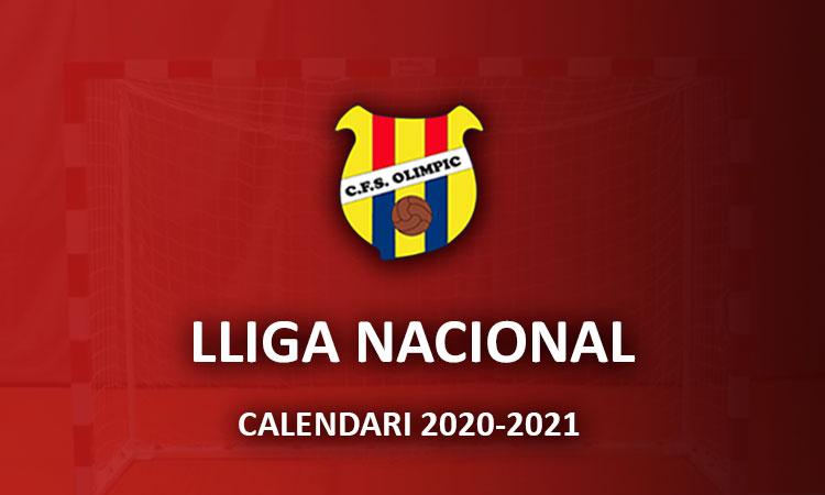 Sènior A – Lliga Nacional – Calendari 2020-21